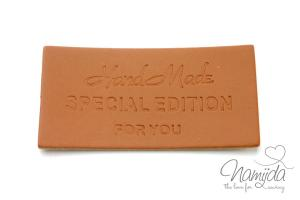 1 Stück - HANDMADE LABEL - SPECIAL EDITION FOR YOU  25x50mm